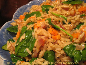 Brown Rice and Spinach Pilaf