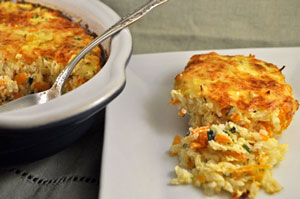 Carrot and Rice Gratin