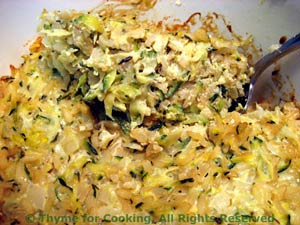 Zucchini (Courgette) and Rice Gratin