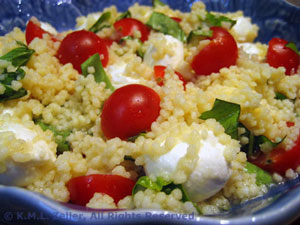 Couscous, Tomato and Mozzarella Salad