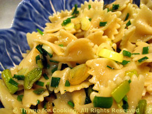 Pasta with Green Garlic