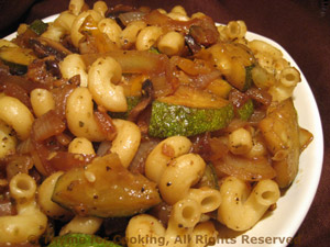Pasta with Mushrooms and Zucchini