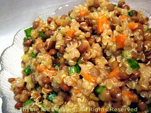 Quinoa Pilaf and Lentil Salad