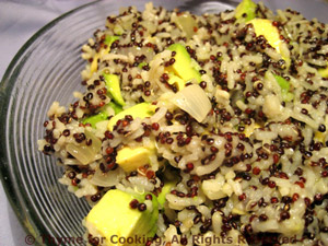Warm Rice, Quinoa and Avocado Salad