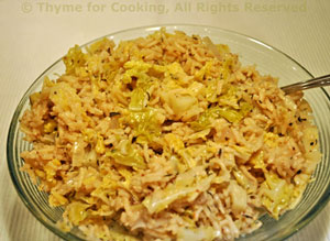 Savoy Cabbage and Rice