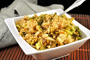 Fried Rice with Savoy Cabbage