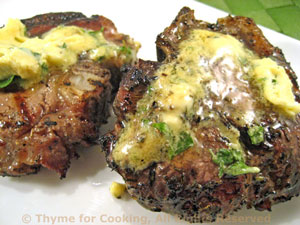 Lamb Chops with Dijon-Basil Butter
