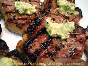 Lamb Chops with Rosemary Butter
