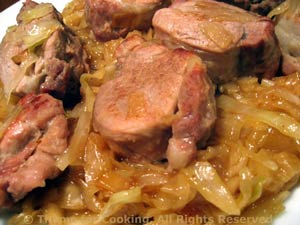Pork Tenderloin with Sweet and Sour Cabbage
