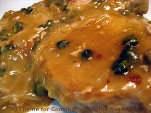Pork Chops with White Wine and Capers