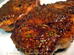 Deviled Pork Chops, Grilled