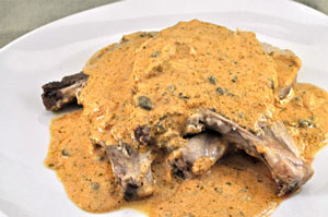 Pork Chops with Ginger Caper Sauce