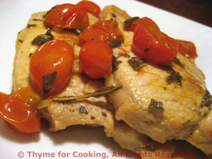 Pork Chops with Tomatoes and Sage