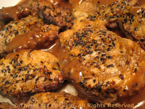 Peppered Pork Tenderloin in Red Wine Sauce