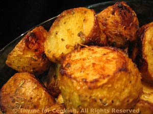 Roasted Potatoes with Vinegar and Mustard