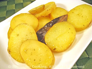 Potatoes Braised in Olive Oil with Bay Leaves