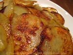 potatoes sliced and fried
