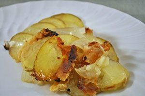 Potato and Onion Packets with Gruyère