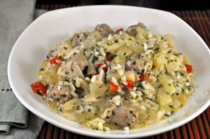 Sausage, Pepper and Fennel Risotto