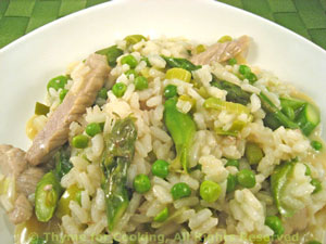Risotto with Asparagus, Veal and Peas
