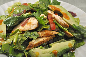 Grilled Chicken, Pepper and Avocado Salad