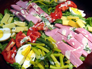 Cobb Salad with Ham or Smoked Turkey