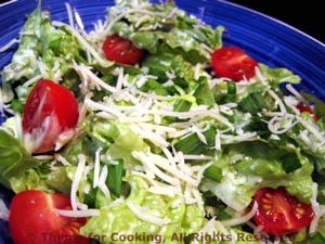 Lettuce Salad with Creamy Dressing