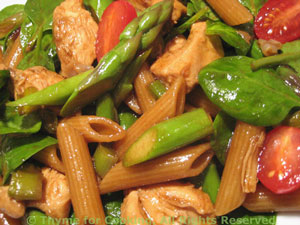 Chicken and Asparagus Salad with Pasta