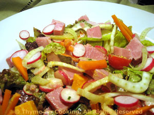 Ham, Fennel and Radish Salad