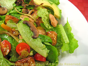 Salad with Turkey, Mushrooms and Potatoes