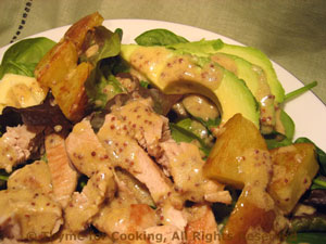 Salad with Potatoes, Turkey and Avocado