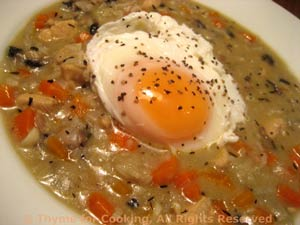 Chicken and Mushroom Chowder with egg