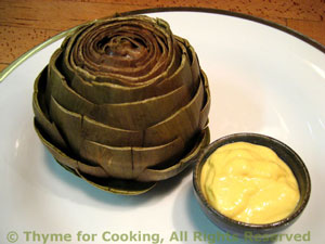 Artichokes with Mayonnaise Dipping Sauce