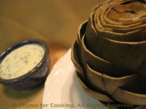 Artichoke with Dill Dip