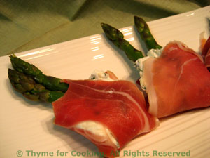 Asparagus with Prosciutto & Chevre