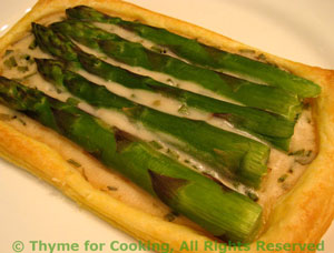 Asparagus Pastries with Tarragon Cream