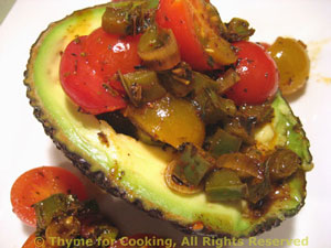 Avocado Stuffed with Tomatoes