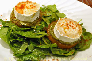 Chevre, Pesto and Honey Salad