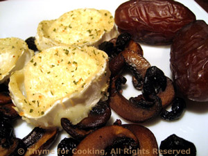 Baked Goat Cheese with Dates and Nuts