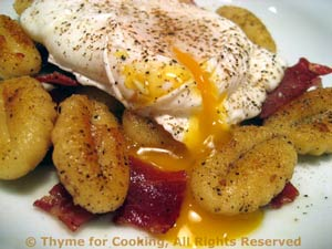Poached Eggs with Gnocchi