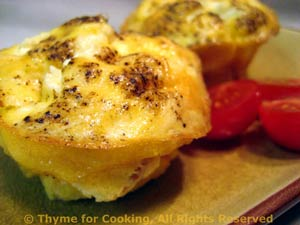 Cheese and Pepper Mini Frittatas