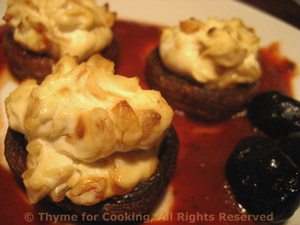 Stuffed Mushrooms with Browned Shallots and Garlic