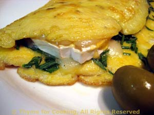 Chevre and Fresh Herb Omelet