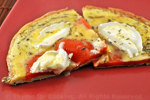 Tortilla de Pimiento (Omelet with Red Peppers)