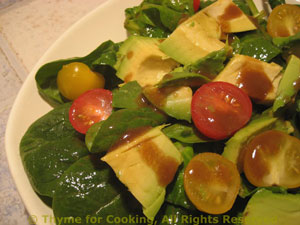 Spinach and Basil Salad with Avocado