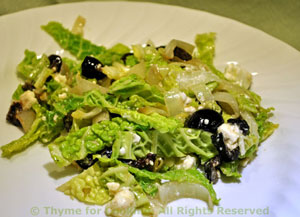 Winter Salad of Endive and Savoy Cabbage