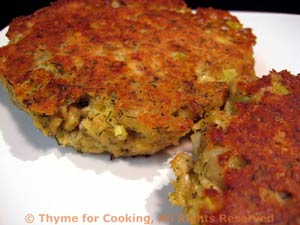 Salmon Patties with Caper Tarter Sauce