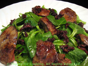 Spinach Salad with Sautéed Chicken Livers