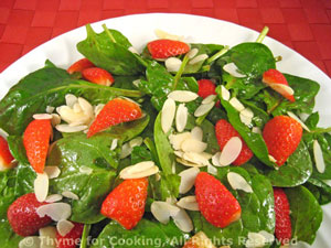 Spinach, Strawberry and Almond Salad