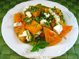Tomato Salad with Chevre